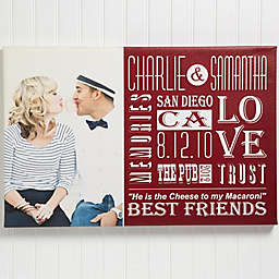 Our Life Together Photo Canvas Print