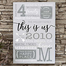 This is Us Canvas Print