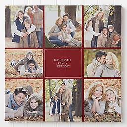 Family Photomontage Canvas Print