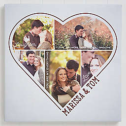 The Heart Of A Couple 5 Photo Canvas Print