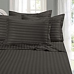 Elegant Comfort Wrinkle Resistant Stripe King Sheet Sheet in Grey