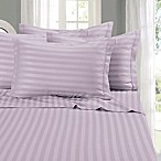 Elegant Comfort Wrinkle Resistant Stripe Queen Sheet Sheet in Lilac