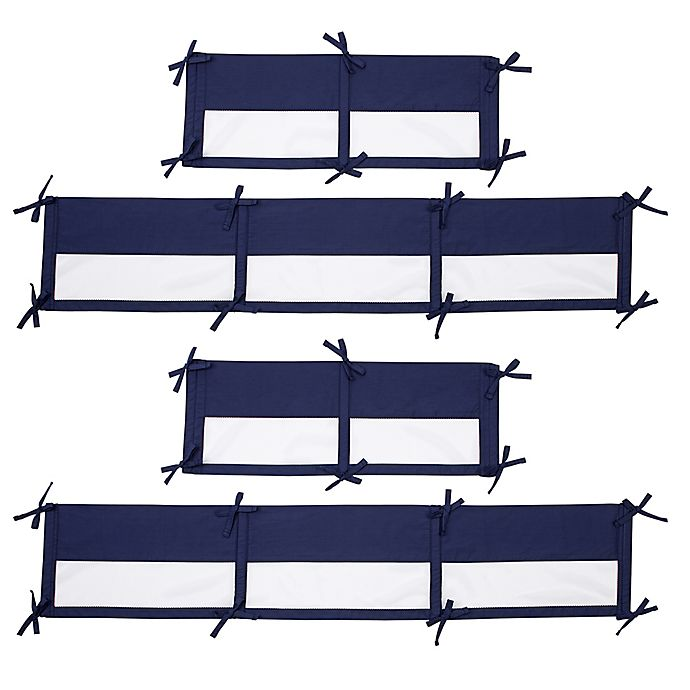 Alternate image 1 for Little Love by NoJo® Aztec 4-Piece Crib Liner in Navy