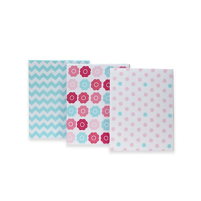 Alternate image 1 for Little Bedding by NoJo® Tickled Pink Fitted Crib Sheets (Set of 3)