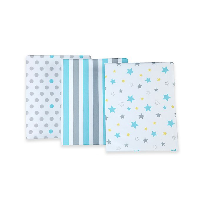 Alternate image 1 for Little Bedding by NoJo® Twinkle Twinkle Fitted Crib Sheets (Set of 3)