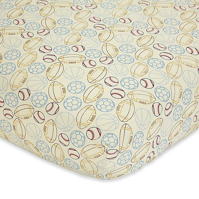 Alternate image 1 for NoJo® Play Ball Fitted Crib Sheet