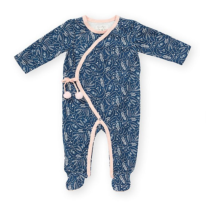 3505819f7728 Jessica Simpson Feather Floral Footie in Blue