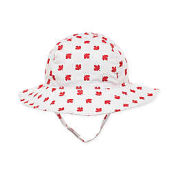 Little Me® Canada Leaf Sunhat in White
