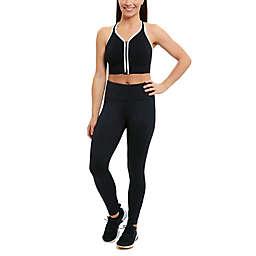 Copper Fit® Small Ultra-Flex Comfort Zip-Front Sports Bra in Black