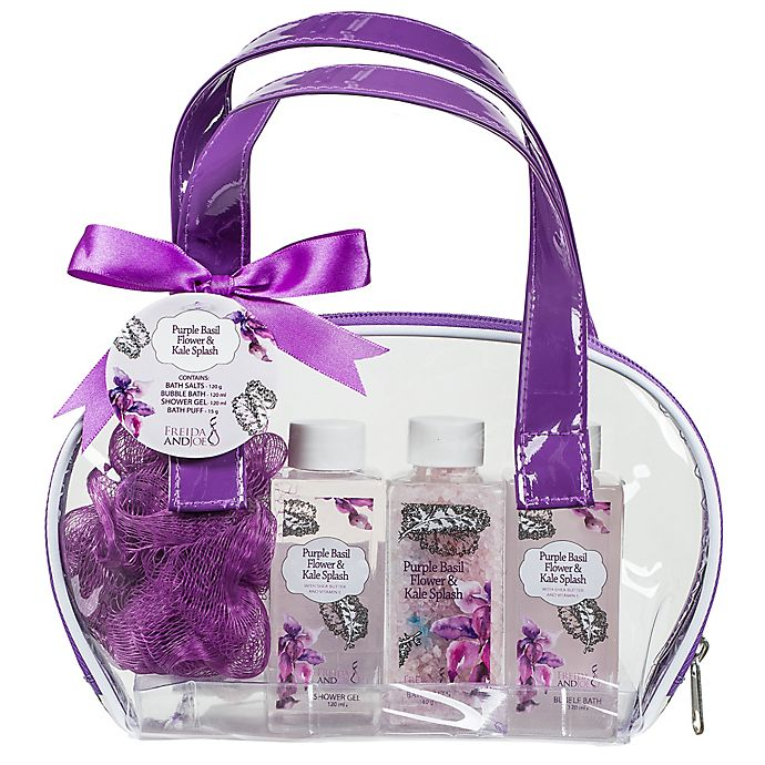 Alternate image 1 for Purple Basil Flower & Kale Splash Gift Bag
