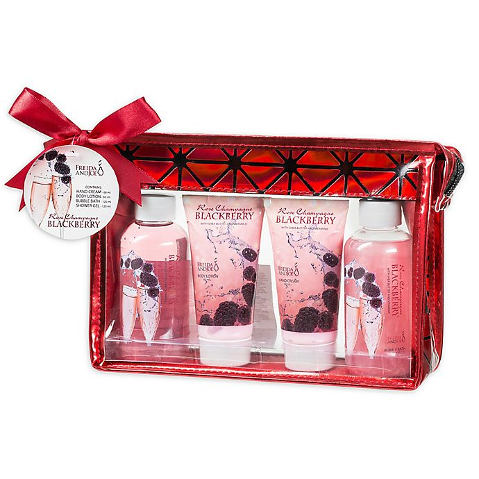Alternate image 1 for Freida & Joe Rose Champagne Blackberry Bath & Body Gift Bag