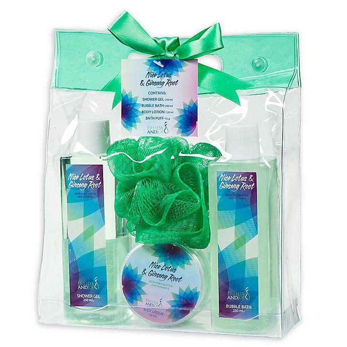 Alternate image 1 for Freida & Joe Nice Lotus & Ginseng Root Spa Bag Gift Set