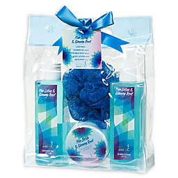 Freida & Joe Nice Lotus & Ginseng Root Spa Bag Gift Set in Blue