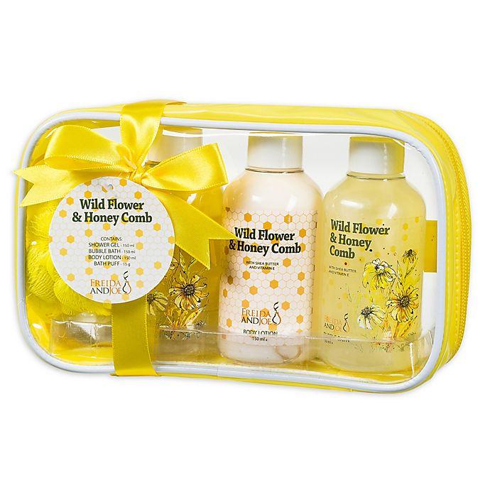 Alternate image 1 for Freida & JoeWild Flower & Honey Comb Spa Bag Gift Set