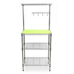 Mind Reader 3-Tier Metal Storage Rack in Silver