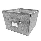 E-Z Do Large Textured Canvas Storage Bin in Grey