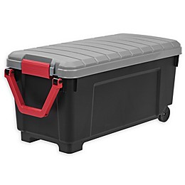IRIS® Store-It-All 169 qt. Plastic Rolling Storage Tote in Black