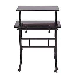 Mind Reader 2-Tier Standing Desk Roller in Black