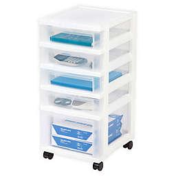 IRIS® 5-Drawer Storage Cart in White