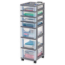 Iris Medium 7 Drawer Storage Cart With Organizer Top