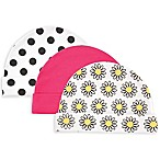 Luvable Friends® Size 0-6M 3-Pack Caps in Pink/White