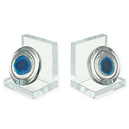 Sterling Industries Elysium Agate 2-Piece Bookend Set in Blue