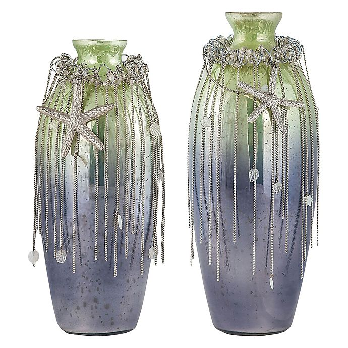 Alternate image 1 for Sterling Industries Vase Corfu Glass Vase in Pampas Green