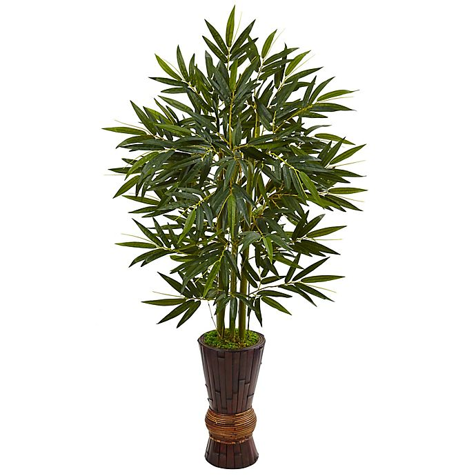 Alternate image 1 for Nearly Natural 5-Foot Bamboo Tree in Bamboo Planter