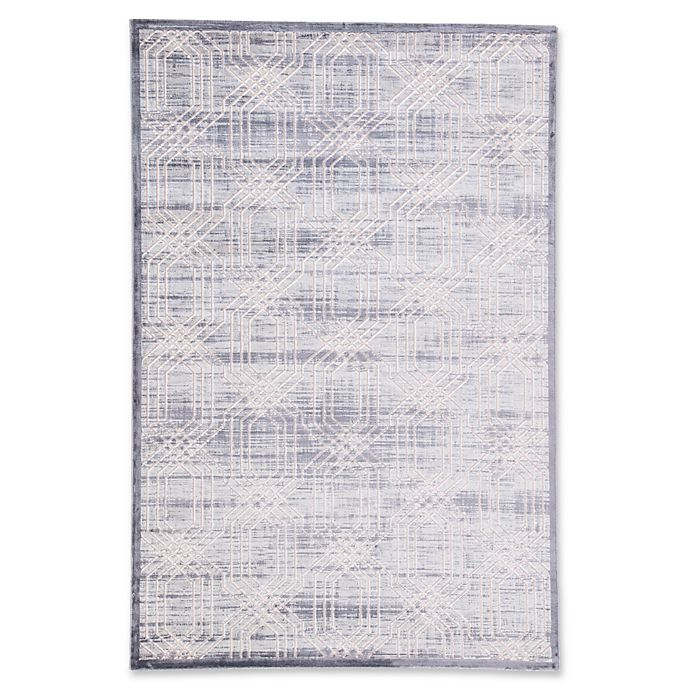 Alternate image 1 for Jaipur Living Carlyle Trellis 5' x 7'6 Area Rug in Grey/Silver