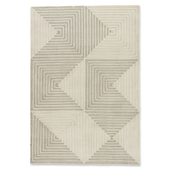 Alternate image 1 for Jaipur Living Tegan 2' x 3' Handcrafted Rug in Grey/Cream