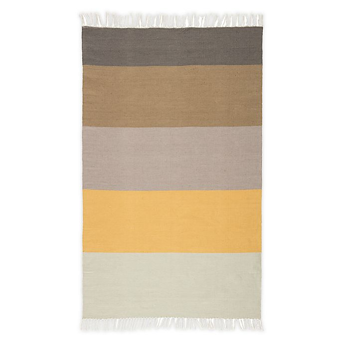 Alternate image 1 for Jaipur Living Swane Indoor/Outdoor Handcrafted Rug in Yellow/Tan