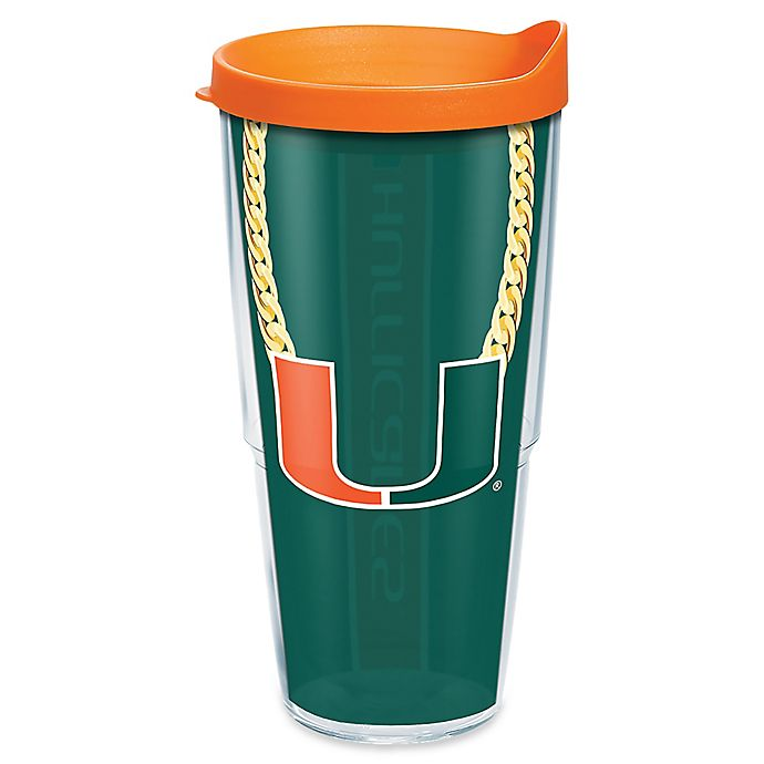 Alternate image 1 for Tervis® University of Miami Chain 24 oz. Wrap Tumbler with Lid