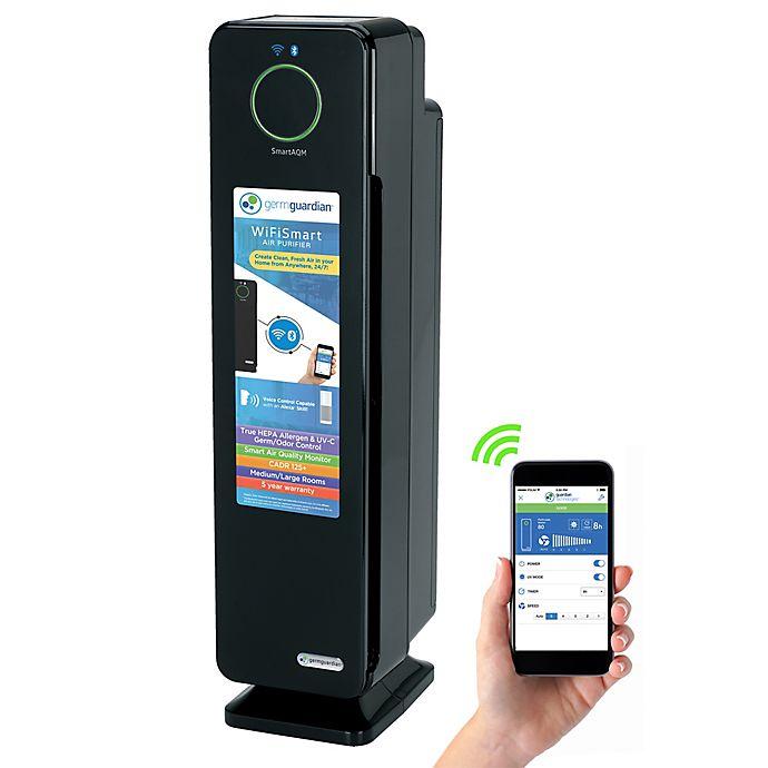 Alternate image 1 for GermGuardian® 4-in-1 Smart True HEPA Air Purifier in Black