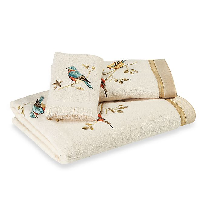 Alternate image 1 for Avanti Gilded Birds Bath Towel