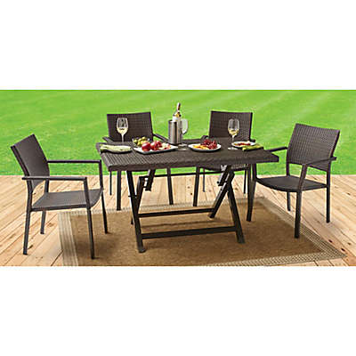 Barrington Wicker Dining Table and Chair Collection