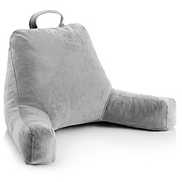 Linenspa Memory Foam Medium Reading Pillow in Grey
