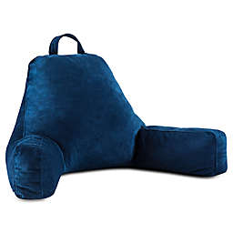 Linenspa Memory Foam Large Reading Pillow in Navy