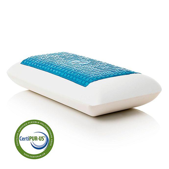 Alternate image 1 for Malouf Dough® Z™ Gel Mid Loft Plush Queen Memory Foam Pillow