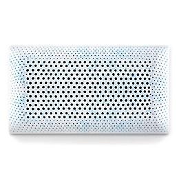 Malouf Memory Foam High Loft Plush Queen Pillow in Blue