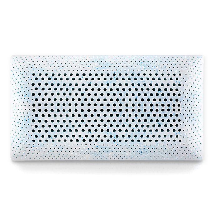 Alternate image 1 for Malouf Memory Foam High Loft Plush Queen Pillow in Blue