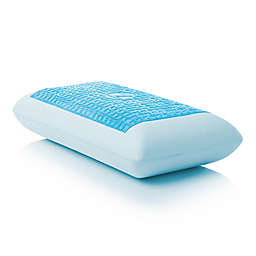 Malouf Gel Dough® Z™ Mid Loft Plush Queen Memory Foam Pillow in Blue