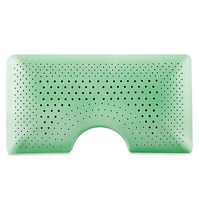 Alternate image 1 for Malouf Shoulder Zoned Dough® Queen Memory Foam Pillow with Peppermint in Green