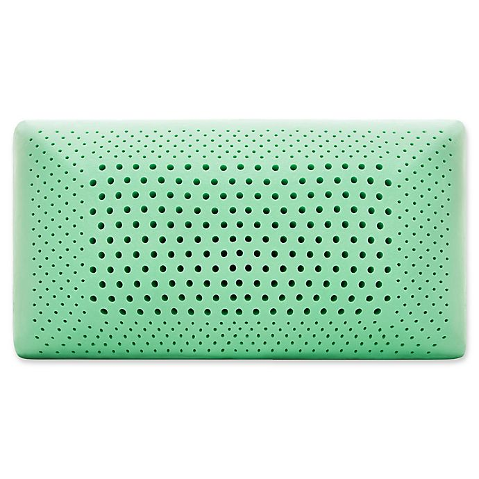 Alternate image 1 for Malouf™ Memory Foam Queen Pillow in Peppermint