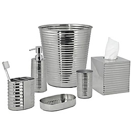 DKNY Corrugated Metal Bath Ensemble