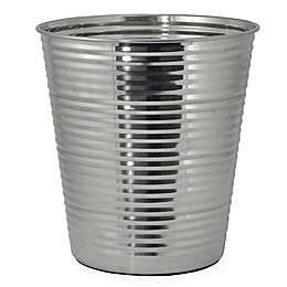 DKNY Corrugated Metal Wastebasket