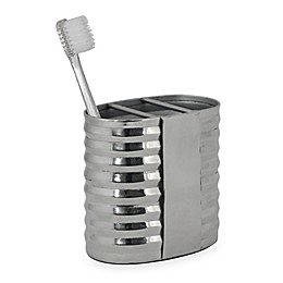DKNY Corrugated Metal Toothbrush Holder