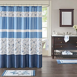 Madison Park Solandis Printed Shower Curtain