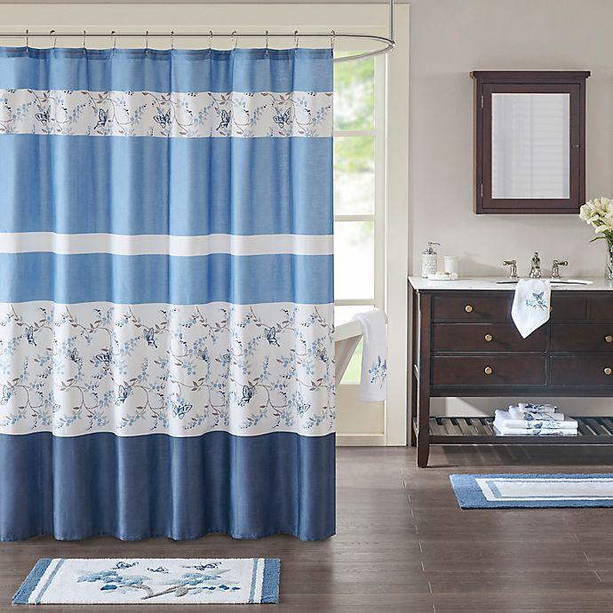 Alternate image 1 for Madison Park Solandis Printed Shower Curtain