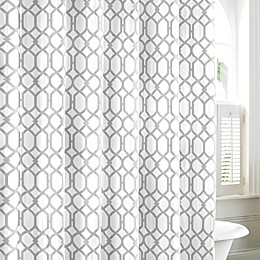 Tommy Bahama® Shoretown Trellis Shower Curtain in Grey
