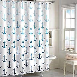 Destinations Ombré Anchor Shower Curtain in Navy